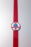 Rood en wit 1965 Shelby Cobra Royalty-vrije Stock Afbeelding