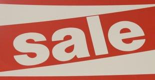 Rood en wit verkoopteken die op een korting wijzen Royalty-vrije Stock Fotografie