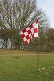 Rood en witte vlag Stock Foto
