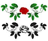 Rood en zwart nam toe Vector Illustratie