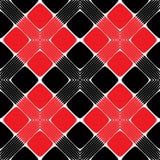 Rood en Zwart Rechthoek Naadloos Patroon Stock Afbeelding
