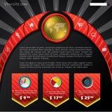 Rood en zwart websiteconcept Stock Foto