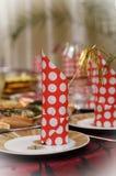 Rood feestelijk servet Royalty-vrije Stock Afbeelding