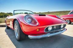 Rood 1962 Ferrari 250 GT Californië Spyder Stock Foto's