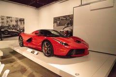 Rood 2014 Ferrari Laferrari Stock Afbeeldingen