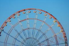 Rood Ferris Wheel stock foto
