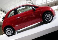 Rood Fiat 500 auto royalty-vrije stock foto's