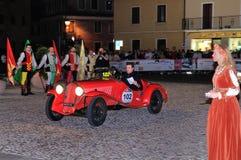 Rood Fiat 508 de sport van Cs Balilla Stock Fotografie