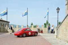 Rood FIAT Zagato 1100 euro Berlinetta Stock Afbeelding