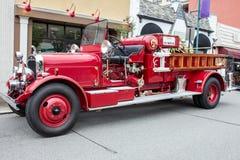 Rood 1932 Firetruck Stock Fotografie