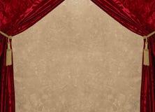 Rood fluweel & marmer Royalty-vrije Stock Fotografie