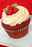 Rood Fluweel Cupcake Royalty-vrije Stock Afbeelding