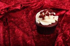 Rood Fluweel Cupcake Royalty-vrije Stock Foto