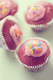 Rood fluweel cupcake Royalty-vrije Stock Foto's