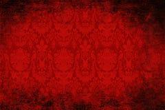 Rood fluweelbehang Royalty-vrije Stock Foto