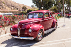Rood 1940 Ford Coupe Stock Afbeeldingen