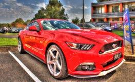 2017 rood Ford Mustang Stock Afbeeldingen
