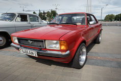 Rood Ford Mustang Stock Afbeelding