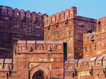 Rood Fort in Agra, Amar Singh Gate, India, Uttar Pradesh Royalty-vrije Stock Fotografie