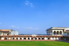 Rood Fort in Agra, Amar Singh Gate, India, Uttar Pradesh Stock Foto