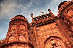 Rood fort Delhi stock foto