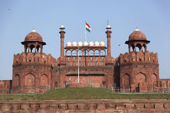 Rood fort Delhi Stock Fotografie
