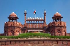Rood fort in Delhi royalty-vrije stock foto's