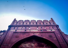 Rood fort Delhi Stock Foto's