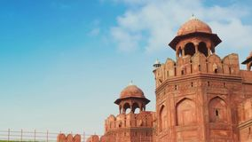 Rood Fort in Delhi, India stock footage