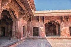 Rood Fort van Agra De Plaats van de Erfenis van de Wereld van Unesco stock foto