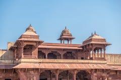 Rood Fort van Agra De Plaats van de Erfenis van de Wereld van Unesco stock foto's