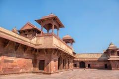 Rood Fort van Agra De Plaats van de Erfenis van de Wereld van Unesco stock fotografie