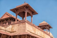 Rood Fort van Agra De Plaats van de Erfenis van de Wereld van Unesco stock afbeeldingen