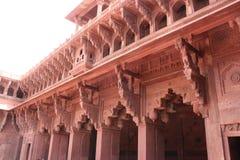 Rood Fort van New Delhi - details India stock foto's