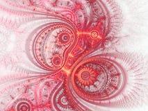 Rood fractal uurwerk royalty-vrije illustratie
