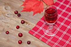 Rood fruit liquer (alcoholtint) Stock Afbeelding