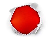 Rood gat. Royalty-vrije Stock Afbeeldingen