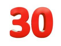 Rood Geïsoleerd Percententeken Stock Fotografie