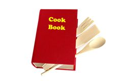 Rood geïsoleerdo kokboek Royalty-vrije Stock Foto