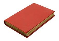 Rood geïsoleerdt boek Stock Foto