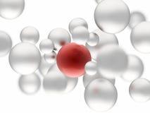Rood gebied stock illustratie