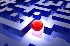 Rood gebied in labyrint vector illustratie
