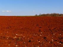 Rood gebiedenplatteland Stock Foto