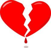 Rood gebroken hart Stock Foto
