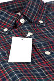 Rood gecontroleerd patroonoverhemd Stock Fotografie
