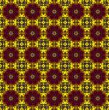 Rood-geel Etnisch patroon Stock Fotografie
