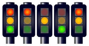Rood, geel, groen Stock Afbeelding