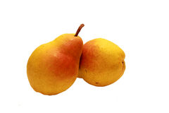 Rood geel perenfruit royalty-vrije stock afbeeldingen
