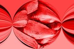 Rood geknepen patroon stock fotografie
