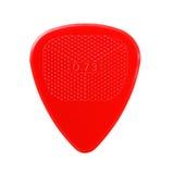 Rood geribbeld gitaarplectrum stock afbeelding